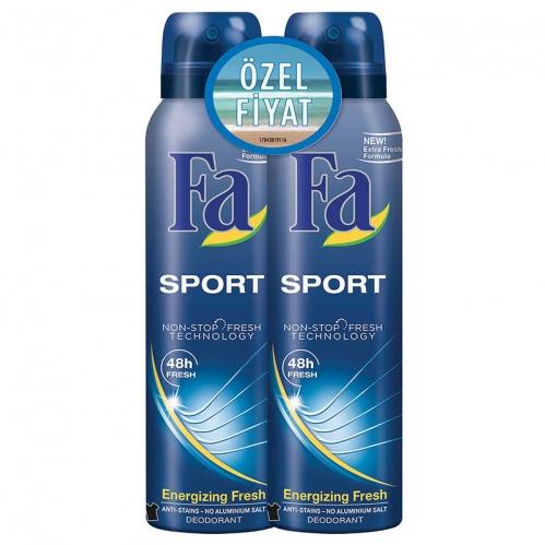 Fa - FA Deodorant Spray Sport Deodorant Erkek 150 ml+150 ml