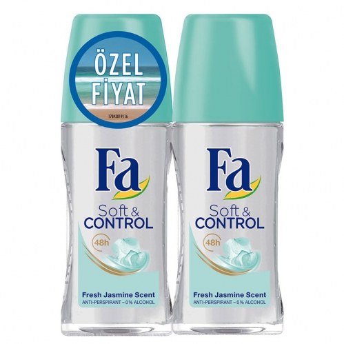 Fa - FA Roll-On 2′li Soft & Control 50 ml+ 50 ml