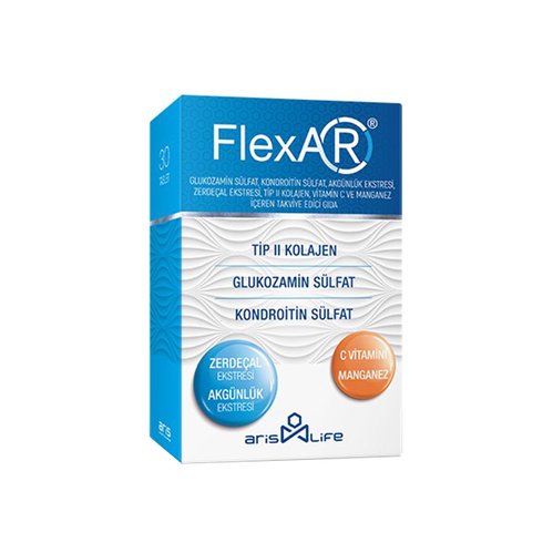 ArisLife - FlexAR Tip 2 Kolajen C Vitamini - Manganez Takviye Edici Gıda 30 Tablet