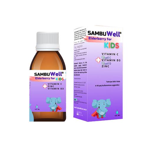Freya Healt Care - Freya Health Care SambuWell Elderberry For Kids Sıvı Takviye Edici Gıda 125 ml
