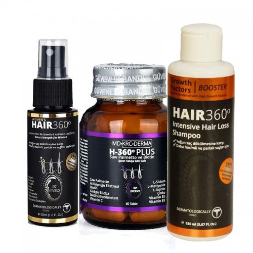 Hair 360 - Hair 360 Bayanlara Özel Dökülme Karşıtı Set