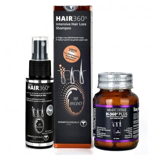 Hair 360 - Hair 360 Erkeklere Özel Dökülme Karşıtı Set