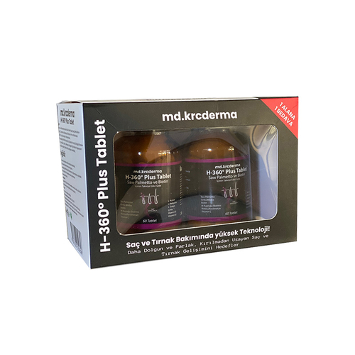 Hair 360 - Hair 360 Plus Saw Palmetto ve Biotin 60 tablet - Bir Alana Bir BEDAVA