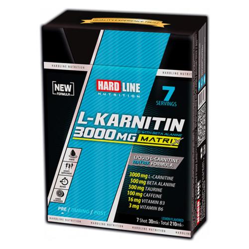 Hardline - Hardline L-Karnitin Matrix 3000 mg Limon 7 Adet