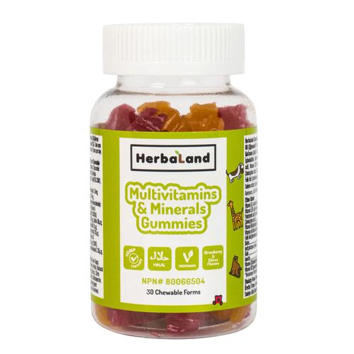Herbaland - Herbaland Kids Multivitamin and Minerals 30 Adet