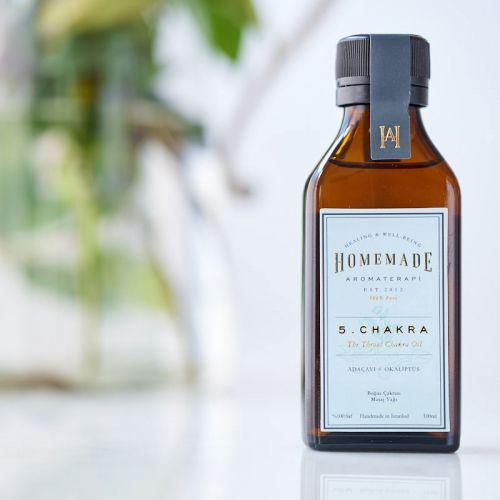Homemade Aromaterapi - Homemade Aromaterapi Boğaz Çakrası Yağı 100 ml - 5 Numara