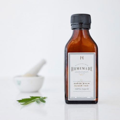 Homemade Aromaterapi - Homemade Aromaterapi Soğuk Sıkım Susam Yağı 100 ml