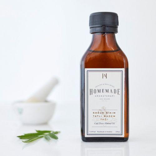 Homemade Aromaterapi - Homemade Aromaterapi Soğuk Sıkım Tatlı Badem Yağı 100 ml