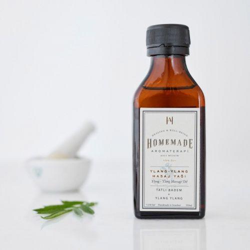 Homemade Aromaterapi - Homemade Aromaterapi Ylang-Ylang Masaj Yağı 100 ml