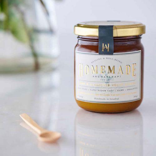 Homemade Aromaterapi - Homemade Aromaterapisi Nane & Okaliptüs Vücut Ovması 300 gr
