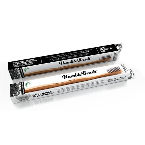 Humble Brush - Humble Brush Bambu Kömür İnfüzyonlu Diş Fırçası - Gri