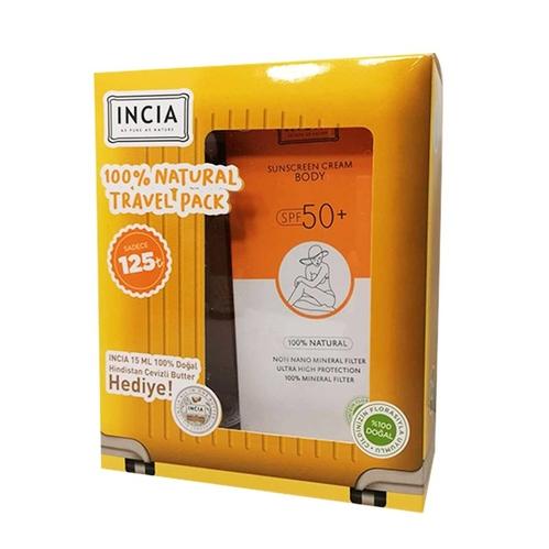 INCIA - INCIA Natural Sunscreen Body Cream 150 ml - Hindistan Cevizi Butter Hediye