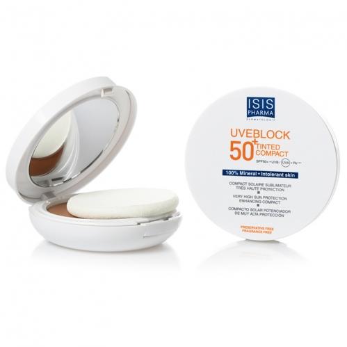 Isis Pharma - Isıs Pharma Uveblock SPF50 Tinted Compact 10gr - Medium