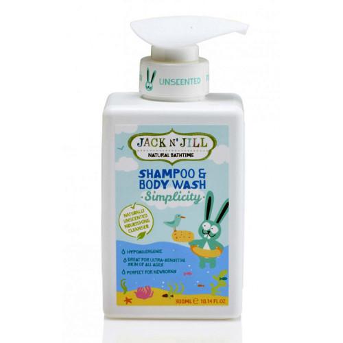 Jack And Jill Kids - Jack and Jill Natural Bathtime Shampoo & Body Wash 300ml - Simplicity