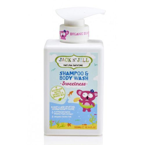 Jack And Jill Kids - Jack and Jill Natural Bathtime Shampoo & Body Wash 300ml - Sweetness