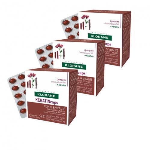 Klorane - Klorane Kınakına Kabuk Ekstresi + Keratin Takviye Edici Gıda 30 Kapsül   3 Al 2 Öde