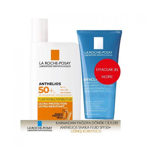 La Roche Posay - La Roche Posay Anthelios Shaka Fluid SPF 50+ 50 ml   Effaclar Jel 50 ml Hediye