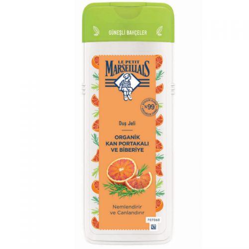 Le Petit Marseillais - Le Petit Marseillais Organik Kan Portakalı ve Biberiye Nemlendirici Duş Jeli 400 ml