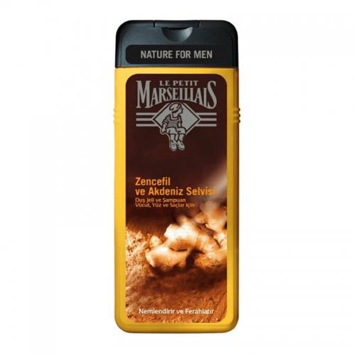 Le Petit Marseillais - Le Petit Marseillais Zencefil ve Akdeniz Selvisi Duş Jeli 400 ml