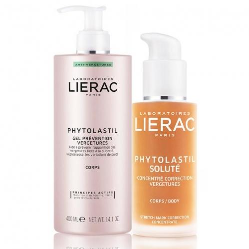 Lierac - Lierac Phytolastil Çatlaklar için Jel 400 ml + Solute 75 ml