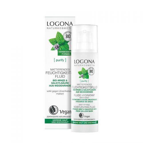 Logona - Logona Organik Matlaştırıcı Etkili Nemlendirici Fluid - Salisilik Asit- Nane 30 ml