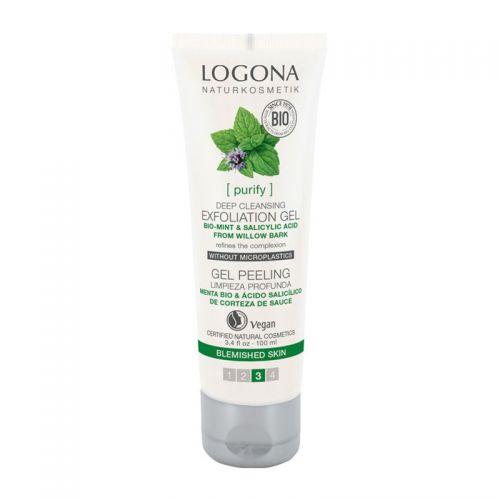 Logona - Logona Organik Nane - Salisilik Asit Peeling Jel 100 ml