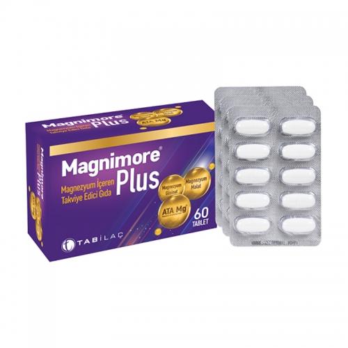 TAB İlaç Sanayi A.Ş - Magnimore Plus Magnezyum İçeren Takviye Edici Gıda 60 Kapsül