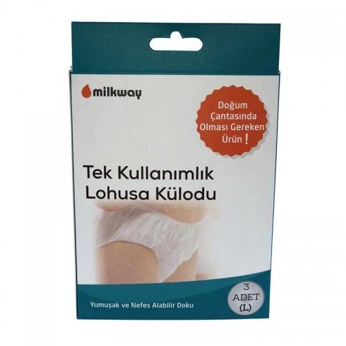 Milkway - Milkway Tek Kullanımlık Lohusa Külodu 3 Adet | Büyük Boy