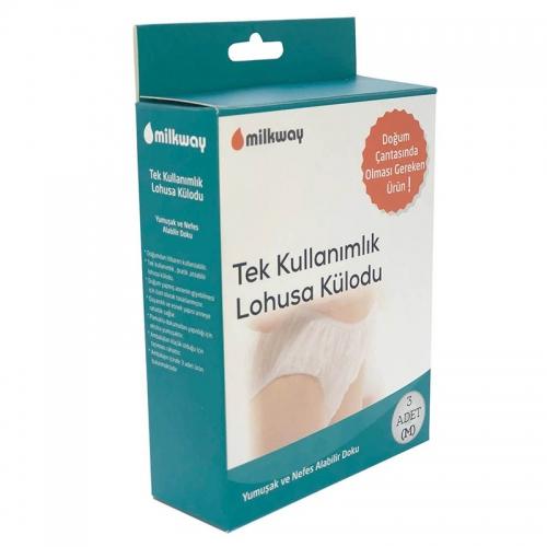 Milkway - Milkway Tek Kullanımlık Lohusa Külodu 3 Adet | Orta Boy