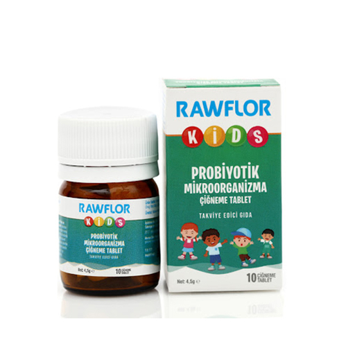 Miraderm - Miraderm Rawflor Probiyotik Kids Takviye Edici Gıda 10 Tablet