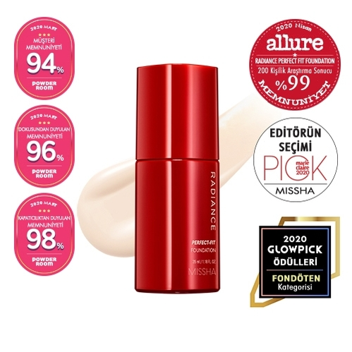Missha - Missha Radiance Perfect Fit Foundation (No.21 Vanilla) 35 ml