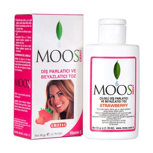 Moos - Moos Dent Çilekli Diş Parlatma Tozu 50gr