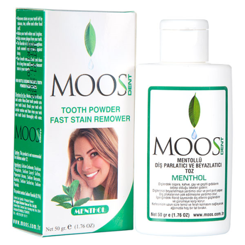 Moos - Moos Dent Mentollü Diş Parlatma Tozu 50gr