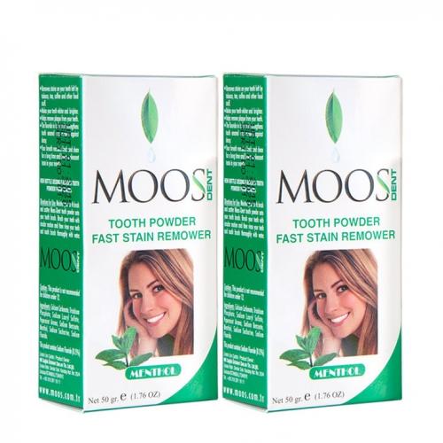 Moos - Moos Dent Mentollü Diş Parlatma Tozu 1 ALANA 1 BEDAVA
