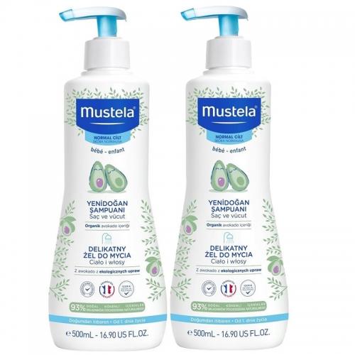 Mustela - Mustela Gentle Cleansing Gel Bebek Şampuanı 2 Li SET