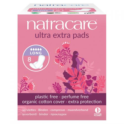 Natracare - Natracare Ultra Ekstra Ped - Long 8 Adet