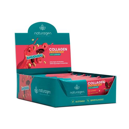Naturagen - Naturagen Collagen İçeren Ahududu - Proteinli Bar 12 Adet