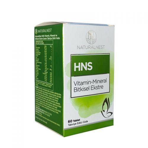 Naturalnest HNS Vitamin-Mineral Bitkisel Ekstre 60 Tablet