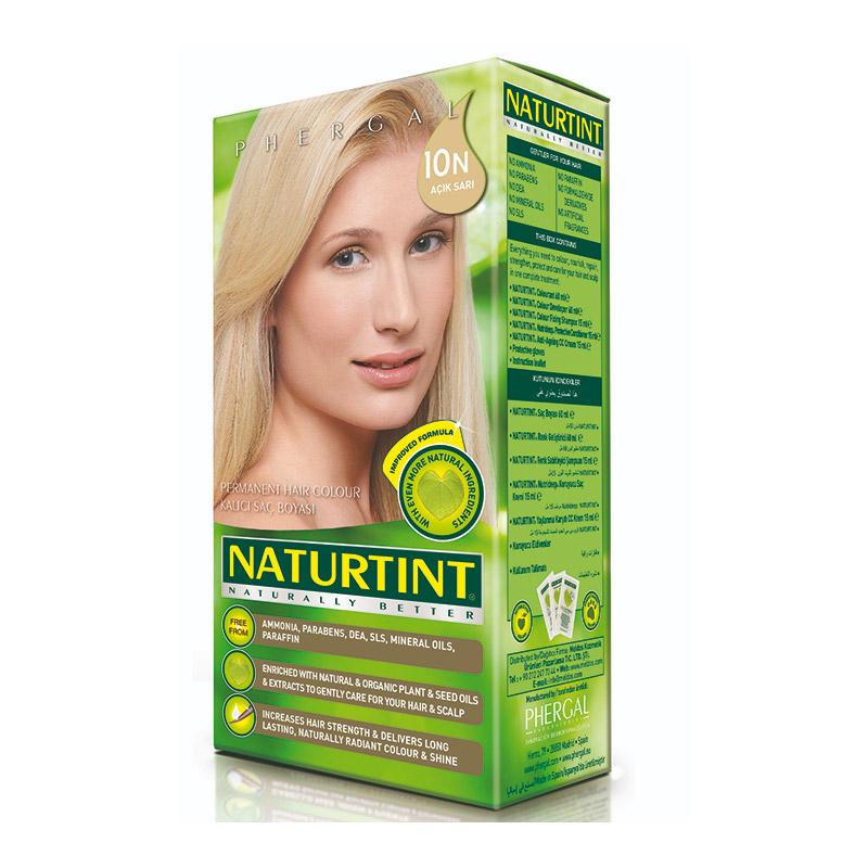 Naturtint - Naturtint Organik Kalıcı Saç Boyası 10N - Açık Sarı