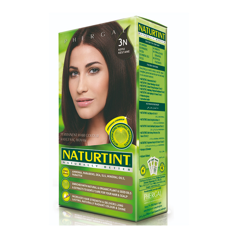 Naturtint - Naturtint Organik Kalıcı Saç Boyası 3N - Koyu Kestane