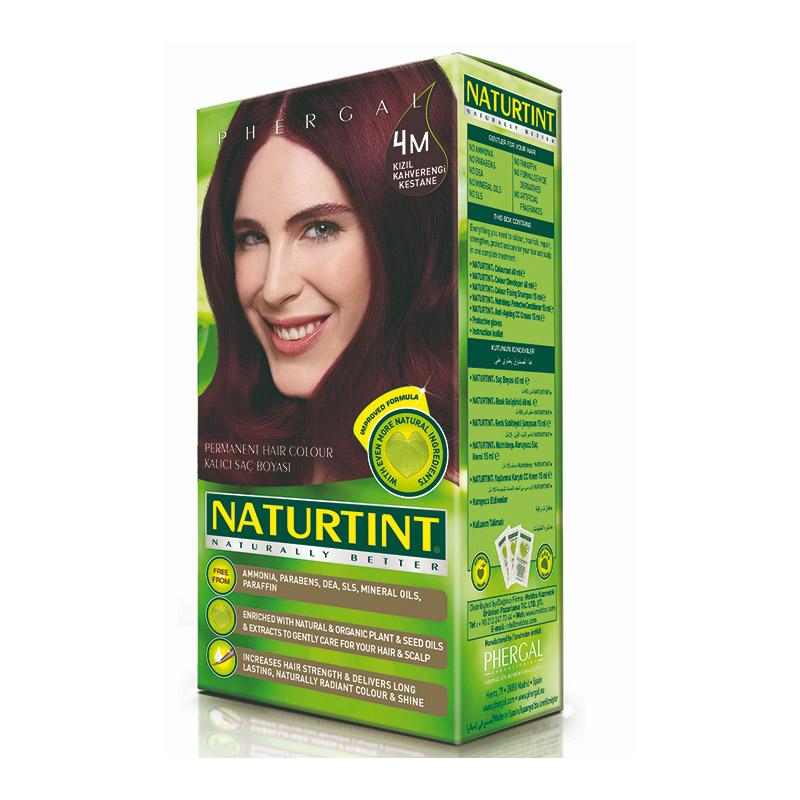 Naturtint - Naturtint Organik Kalıcı Saç Boyası 4M - Kızıl Kahverengi Kestane