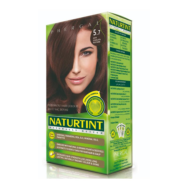 Naturtint - Naturtint Organik Kalıcı Saç Boyası 5.7 - Açık Çikolata Kestane