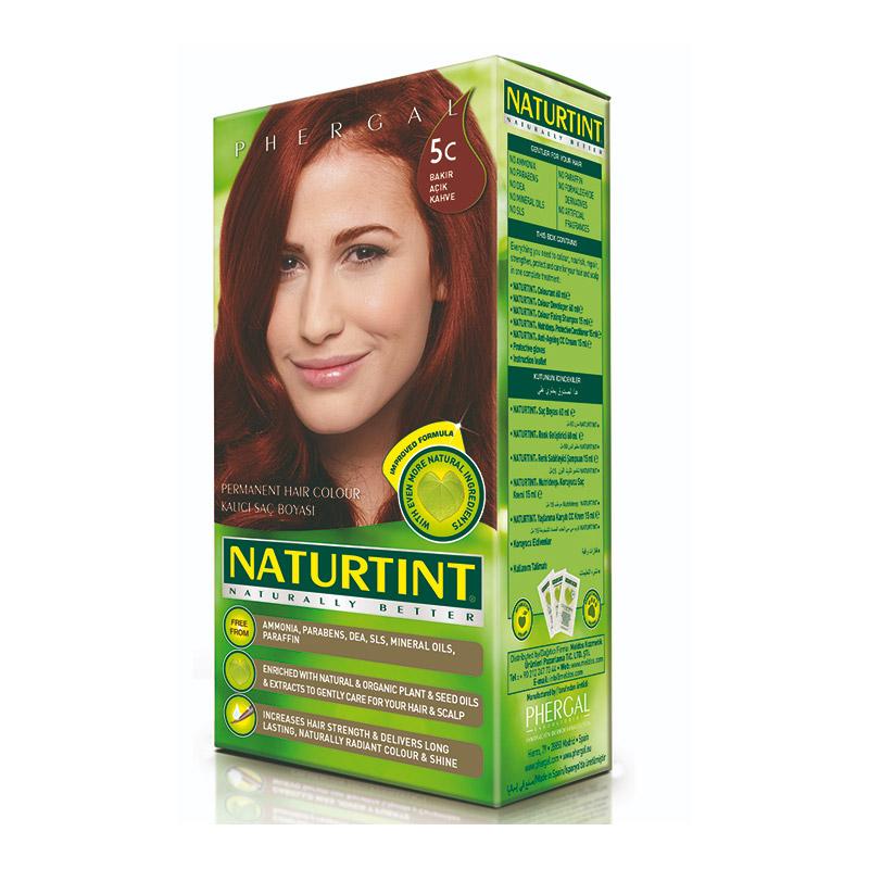 Naturtint - Naturtint Organik Kalıcı Saç Boyası 5C - Bakı Açık Kahve