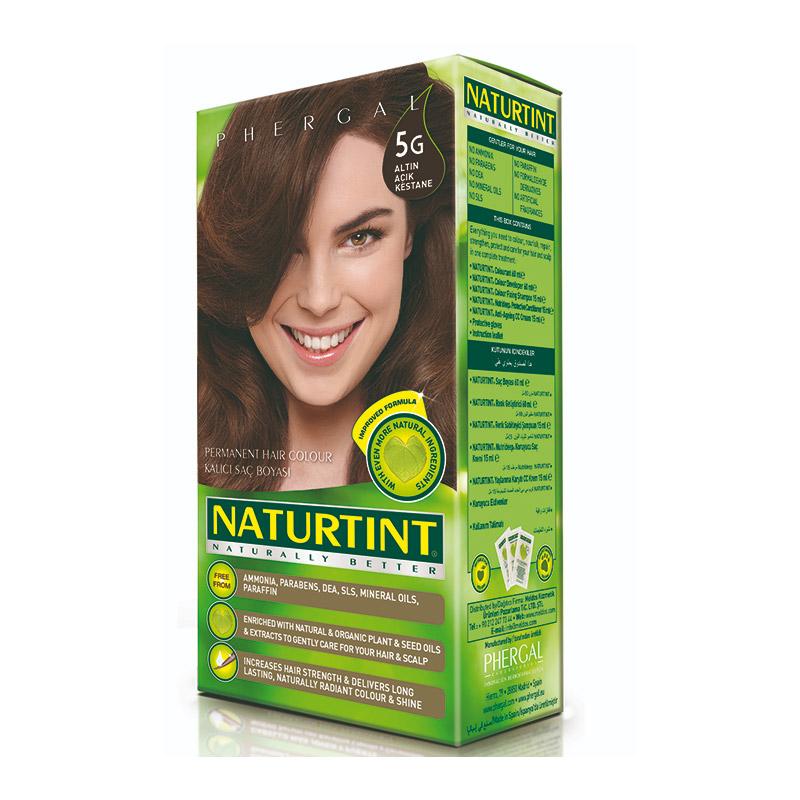Naturtint - Naturtint Organik Kalıcı Saç Boyası 5G - Altın Açık Kestane