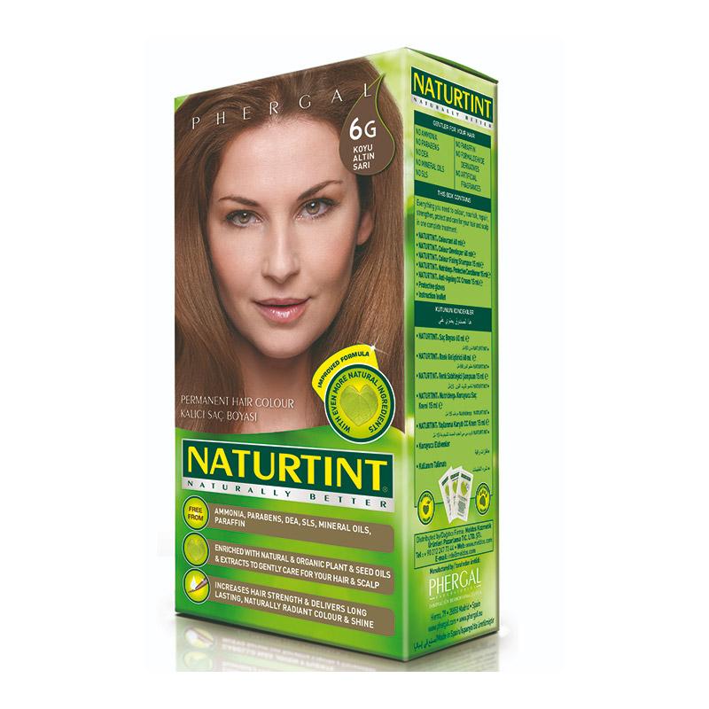 Naturtint - Naturtint Organik Kalıcı Saç Boyası 6G - Koyu Altın Sarısı