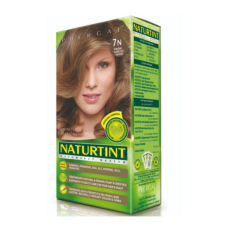Naturtint - Naturtint Organik Kalıcı Saç Boyası 7N - Fındık Kabuğu Sarısı