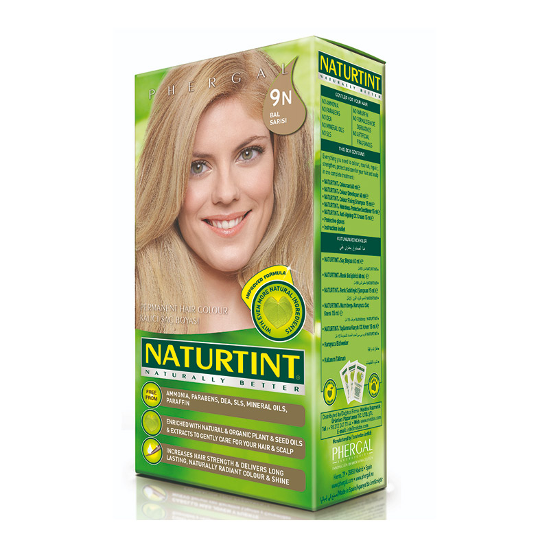 Naturtint - Naturtint Organik Kalıcı Saç Boyası 9N- Bal Sarısı