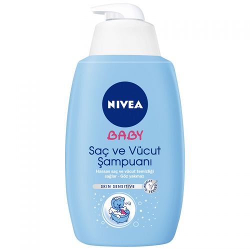 Nivea - Nivea Bebek Saç ve Vücut Şampuanı Ekonomik Boy 750ml