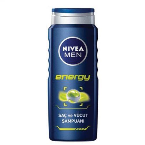 Nivea - Nivea Men Energy Saç, Yüz ve Vücut Duş Jeli 500ml