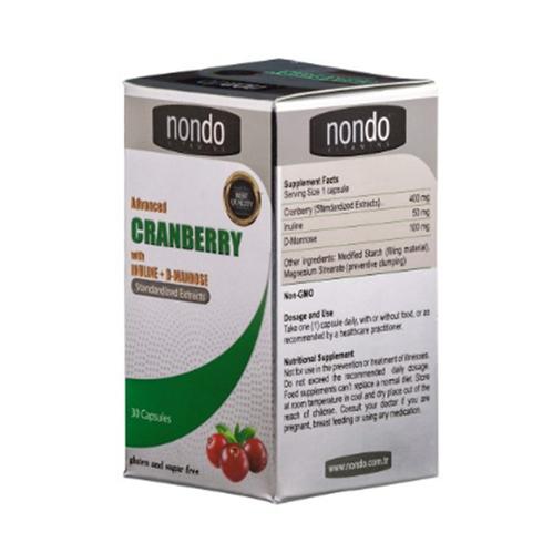 Nondo Vitamins - Nondo Vitamins Cranberry 30 Kapsül